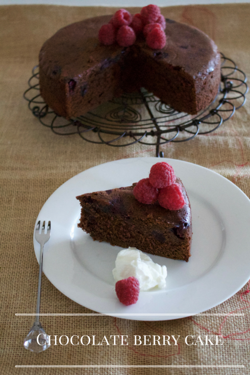 Easy Chocolate berry cake - The Hungry Mum.png